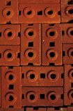 Stapel rode kleibakstenen Stock Fotografie