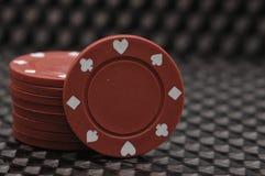 Stapel rote Schürhakenchips Stockfoto