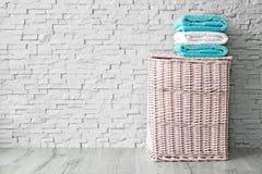 Stapel saubere Tücher lizenzfreies stockfoto