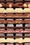 Stapel Schokolade Stockfoto