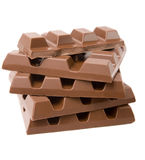 Stapel Schokolade Stockfotos