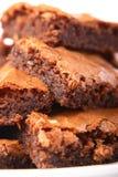 Stapel Schokoladenkuchen Stockfoto
