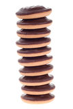 Stapel Schokoladenplätzchen Stockbild