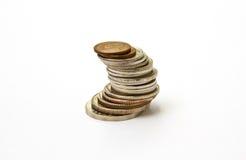 Stapel siamesische Münzen lizenzfreie stockfotografie