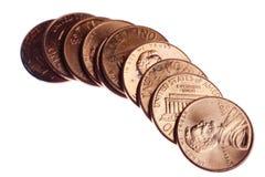 Stapel Staat-Pennys Lizenzfreie Stockbilder
