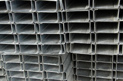 Stapel Stahlgestaltung Stockfoto
