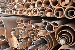 Stapel Stahlrohre Lizenzfreies Stockbild