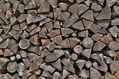stapel staplat trä Royaltyfri Bild