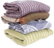 Stapel sweaters Stock Foto