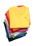 Stapel T-Shirts Stockbilder