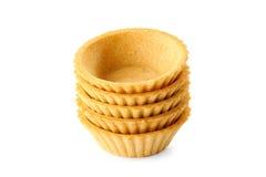 Stapel tartlets op wit Royalty-vrije Stock Foto's