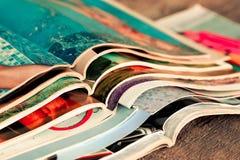 Stapel tijdschriften Stock Foto