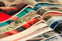 Stapel tijdschriften Stock Fotografie