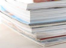 Stapel tijdschriften stock afbeelding
