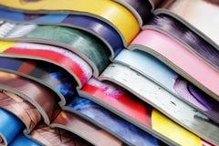 Stapel tijdschriften Stock Foto's