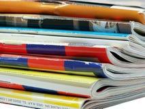 Stapel Tijdschriften Royalty-vrije Stock Foto's