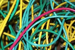 stapel tilltrasslade trådar Royaltyfri Foto
