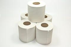 Stapel toiletpaper stockfoto