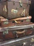 Stapel uitstekende koffers Royalty-vrije Stock Foto