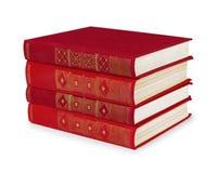Stapel uitstekende rode boeken Stock Afbeeldingen