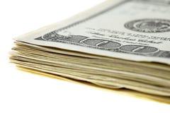 Stapel van $100 rekeningen Royalty-vrije Stock Foto's