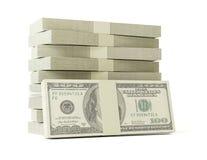 Stapel van $100 rekeningen Royalty-vrije Stock Afbeelding