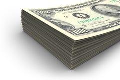 Stapel van $100 rekeningen Stock Afbeelding