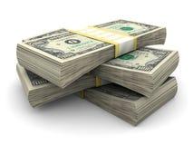 Stapel van $100 rekeningen Stock Foto's