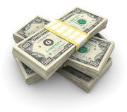 Stapel van $100 rekeningen Stock Foto