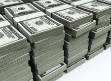 Stapel van 100 $US rekeningen Royalty-vrije Stock Foto's
