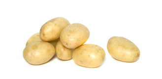 Stapel van aardappels royalty-vrije stock foto's