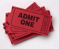 Stapel van Admit Één kaartjes Stock Foto's