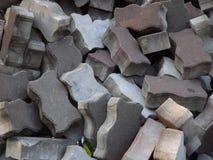 Stapel van bakstenentextuur Stock Afbeelding