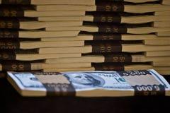 Stapel van bankbiljetten Stock Foto
