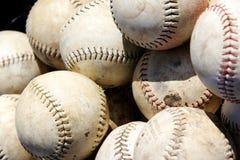 Stapel van baseballs Stock Afbeelding