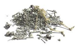 Stapel van Beenderen met Skelet 2 Stock Foto's