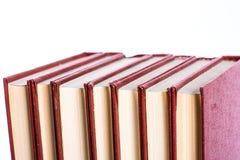 Stapel van boeken op een witte achtergrond Royalty-vrije Stock Foto's