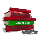 Stapel van boeken - visuele arts. Stock Fotografie
