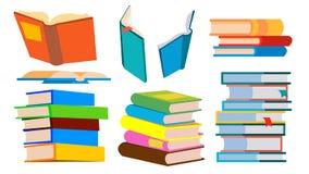 Stapel van boekenvector stapel Verschillende Hoeken, Hoogte Leren, die Concept lezen Geïsoleerde beeldverhaalillustratie Royalty-vrije Illustratie