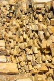 Stapel van brandhout Royalty-vrije Stock Foto