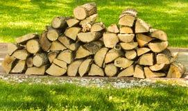 Stapel van brandhout Royalty-vrije Stock Foto's