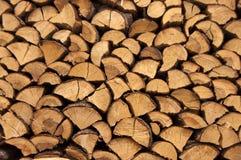 Stapel van brandhout Stock Afbeeldingen