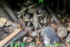 Stapel van brandhout Stock Foto