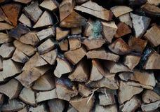Stapel van brandhout achtergrondtextuur Royalty-vrije Stock Afbeelding