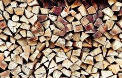 Stapel van brandhout Vernieuwbaar middel van een energie Milieu concept Close-up van een stapel van brandhout stock foto