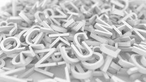 Stapel van brieven Het conceptuele 3d teruggeven Stock Fotografie
