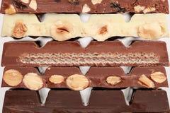 Stapel van chocolade Royalty-vrije Stock Afbeelding