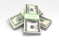 Stapel van contant geld Stock Foto's