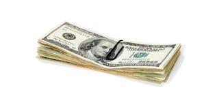Stapel van contant geld stock foto