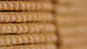 Stapel van Cracker stock footage